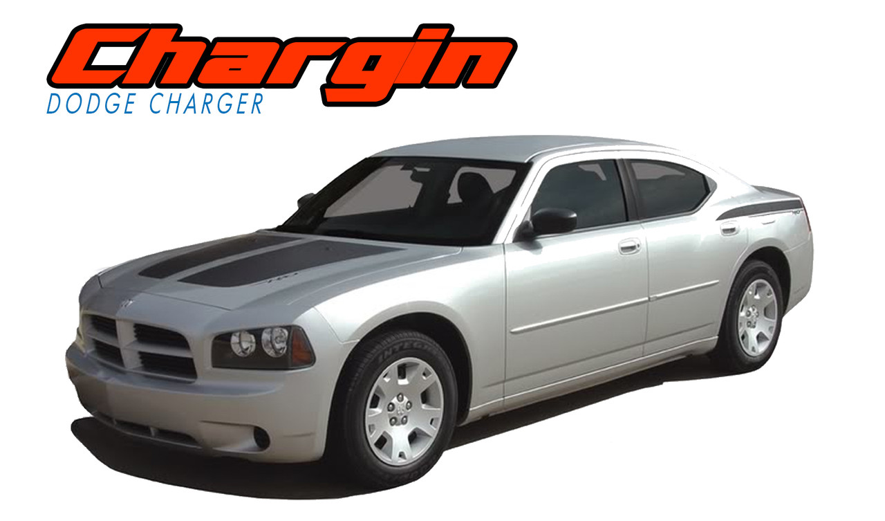 chargin 2006 2007 2008 2009 2010 split hood rear quarter panel rear blackout vinyl graphics decals stripes kit vgp 0995  [ 1280 x 753 Pixel ]