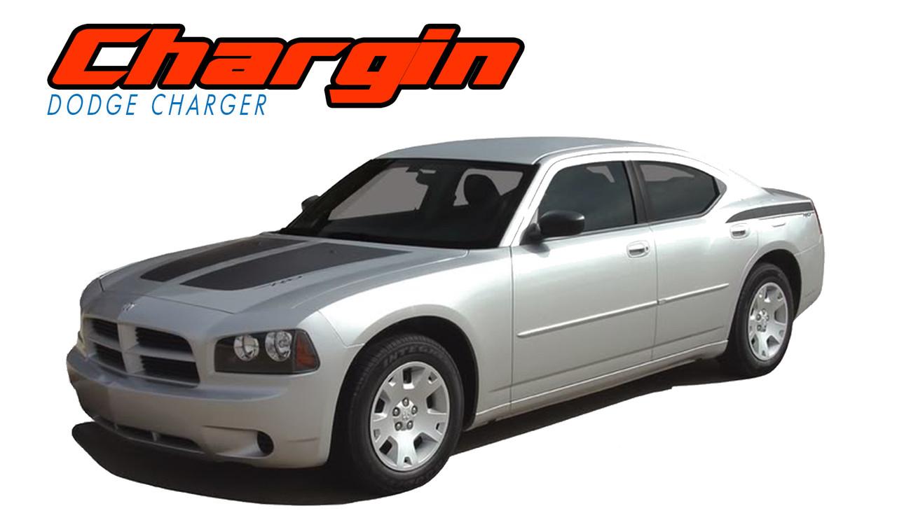 hight resolution of chargin 2006 2007 2008 2009 2010 split hood rear quarter panel rear blackout vinyl graphics decals stripes kit vgp 0995