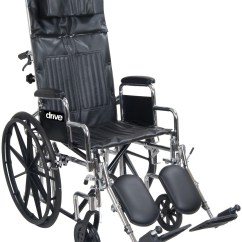 Drive Wheel Chair Valencia Hanging Chrome Sport Full Reclining Wheelchair Loading Zoom