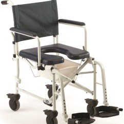 Invacare Shower Chair Salon Covers 6891 Mariner Rehab Commode With 5 Casters Loading Zoom