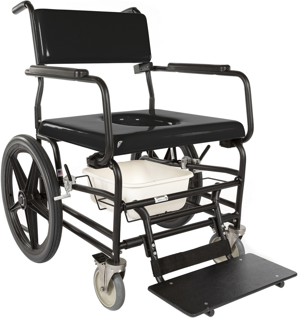 Bariatric Chair Heavy Duty Rolling Commode Shower Chair 720 By Activeaid