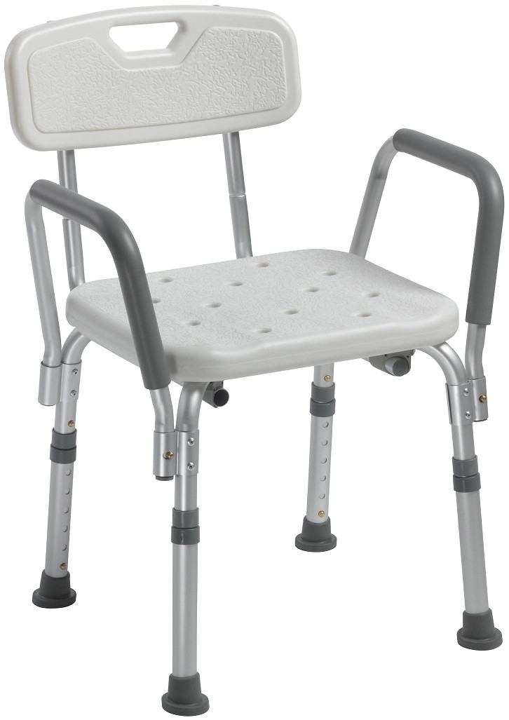 chair with arms vinyl rocking chairs drive 12445 shower back and bath removable by