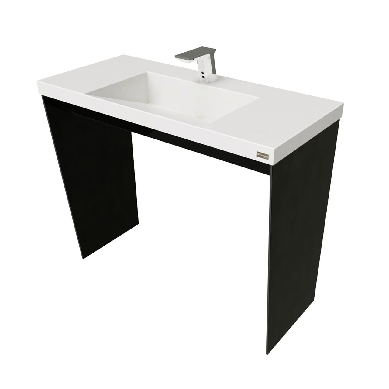 40 contempo vanity with concrete ramp sink