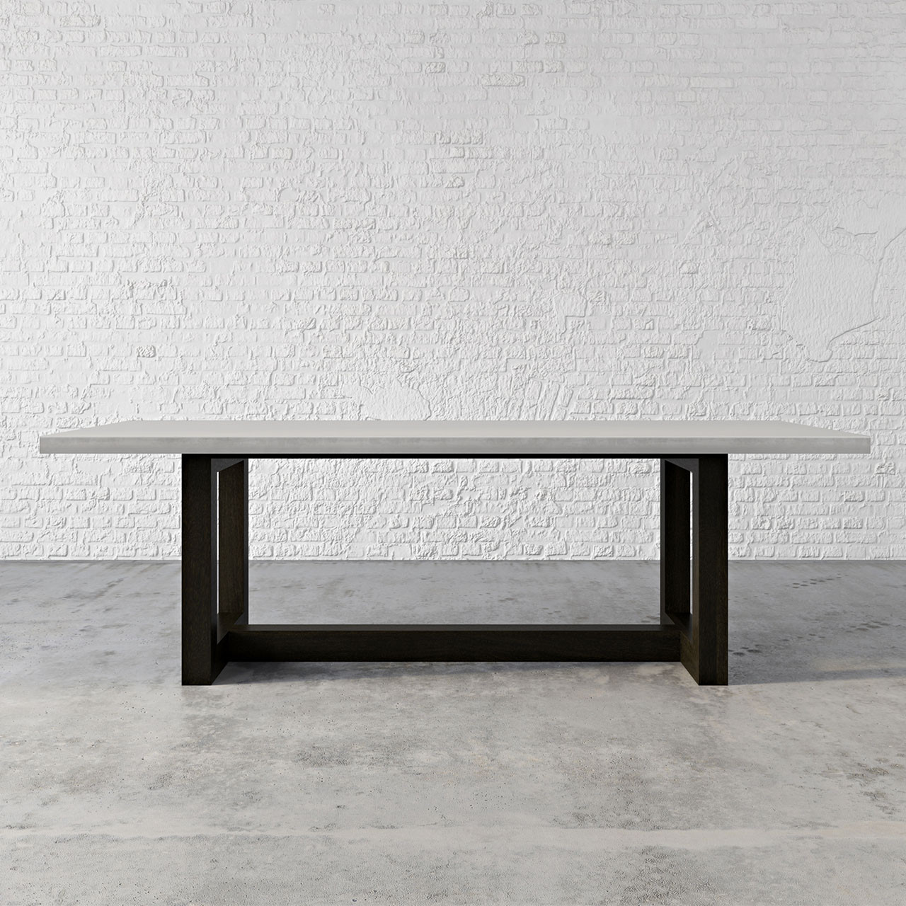 concrete kitchen table exhaust zen wood dining trueform the is a beautiful collaboration between