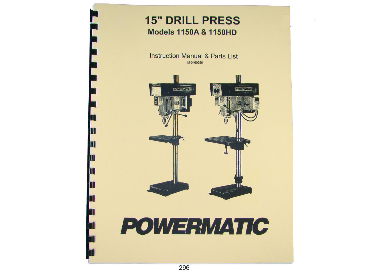 Powermatic 2800 Drill Press Parts