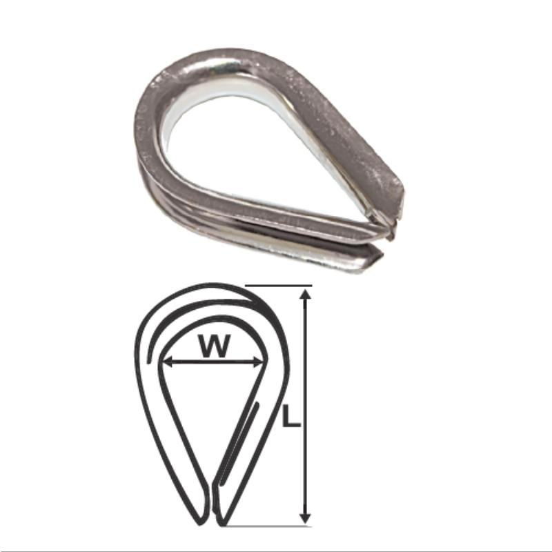 wire rope thimbles stainless