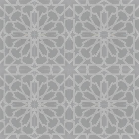 starburst grey cement tiles amethyst