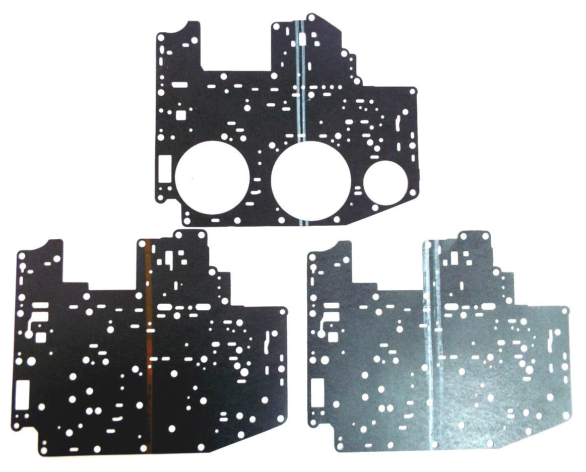 ford aod transmission valve body spacer plate gasket masker kit 1980 1993  [ 1163 x 937 Pixel ]
