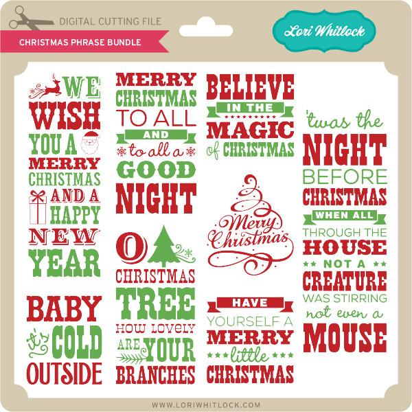 christmas phrase bundle