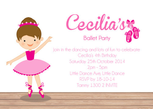 girls invitations girls ballet