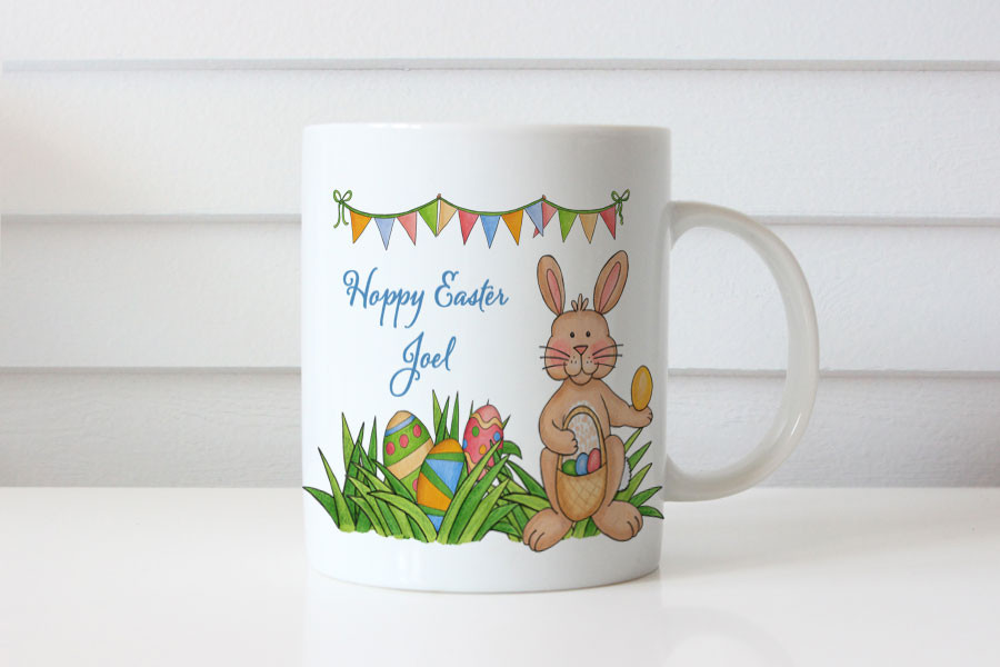 personalised mugs hoppy easter