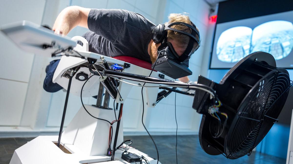 birdly virtual flight simulator