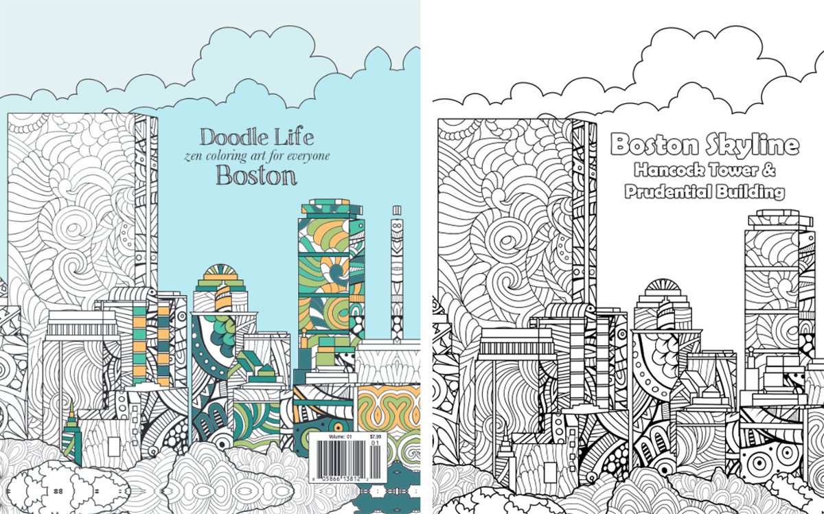 City Of Boston Coloring Pages