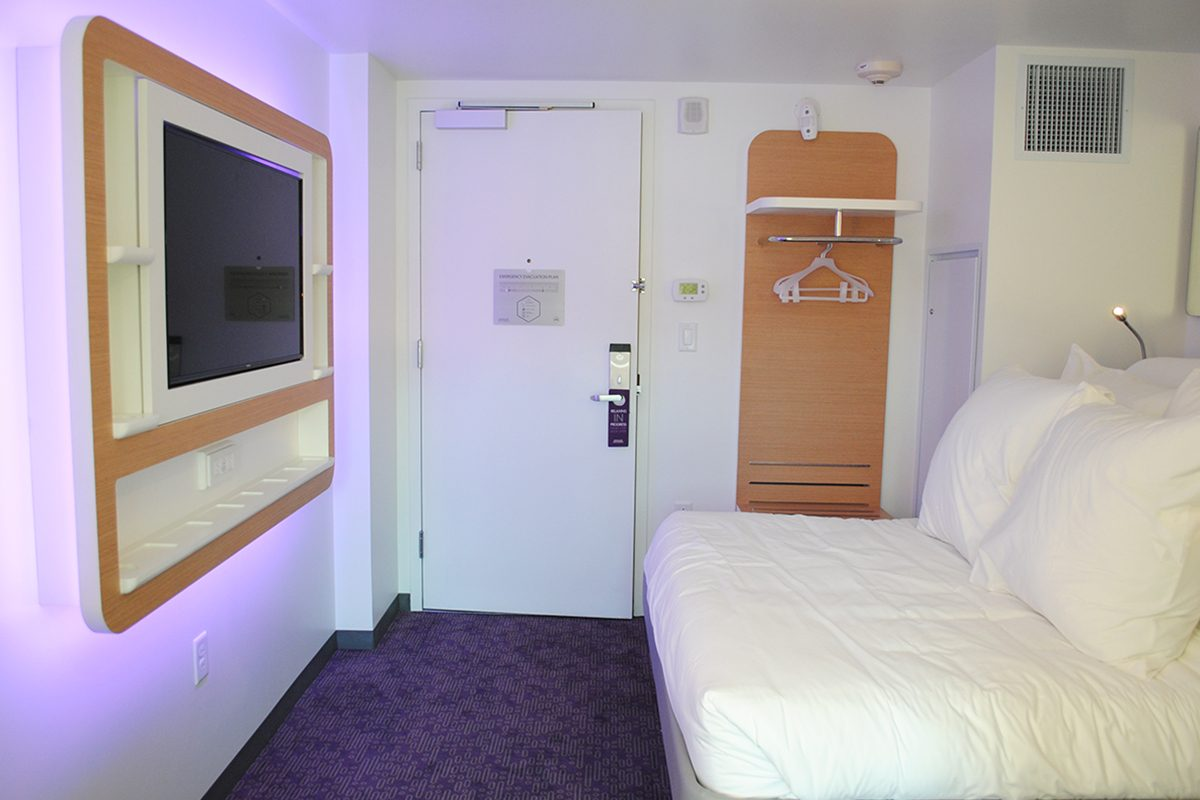 Heres a First Look Inside the Tiny Rooms at Yotel Boston