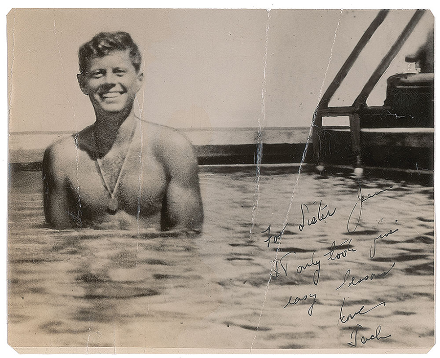 Signed Photo Of Young John F Kennedy Up For Auction
