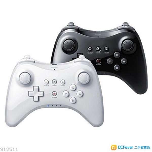 全新 WII U Wiiu U Pro Controller 經典手制 pro 傳統控制器 pro 黑白兩色 手製 無線 代用 - DCFever.com