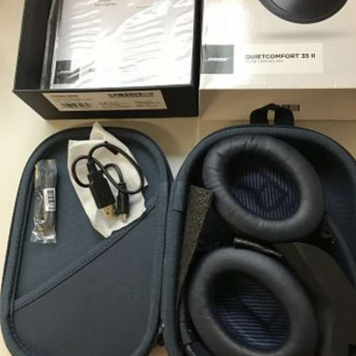 99%New Bose QC35 II Noise Cancelling Headphones Triple Midnight Ltd - DCFever.com