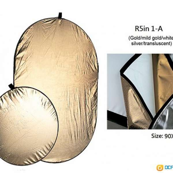 五合一反光板 5in1 Reflector (容易收納)---全新 - DCFever.com