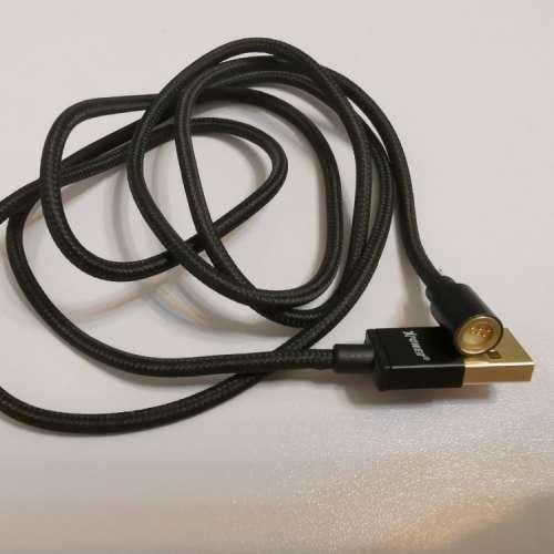Xpower 磁力快拆高速傳輸充電尼龍線 1M 2條 連2個 micro usb頭及2個 ...