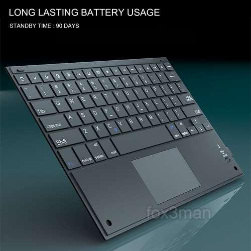 多功能藍牙鍵盤 + 滑鼠觸控板 iPad/Android手機平板/桌面電腦適用 - DCFever.com