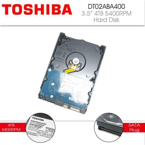 二手 9成新 TOSHIBA DT02ABA400 4TB 3.5in HDD 128MB Cache 5400RPM 保養至 2020年5月31日 - DCFever.com