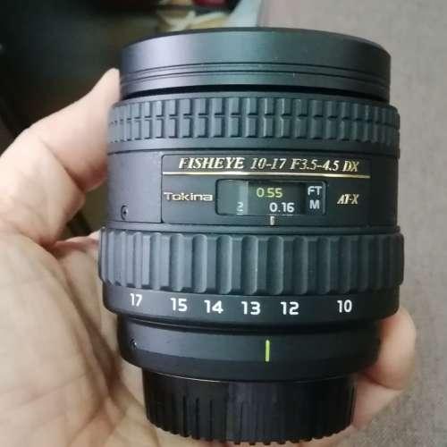 Tokina AT-X 10-17 3.5-4.5DX 魚眼鏡 Nikon Mount (新淨) - DCFever.com