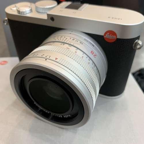 99新 Leica Q typ116 silver with hand grip - DCFever.com