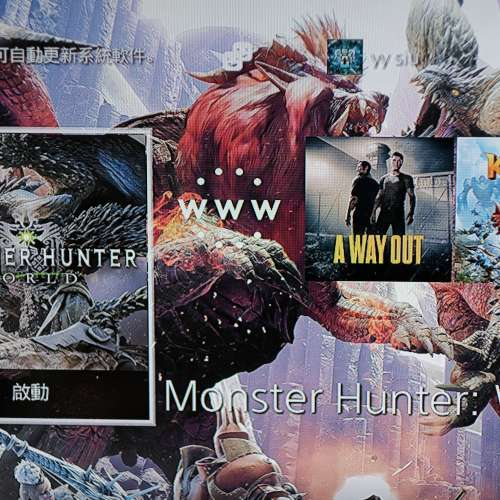 PS4 slim 500GB + 1 手制 + Monster Hunter World + A Way out + UNCHARTED 4 + 2 GAMES - DCFever.com