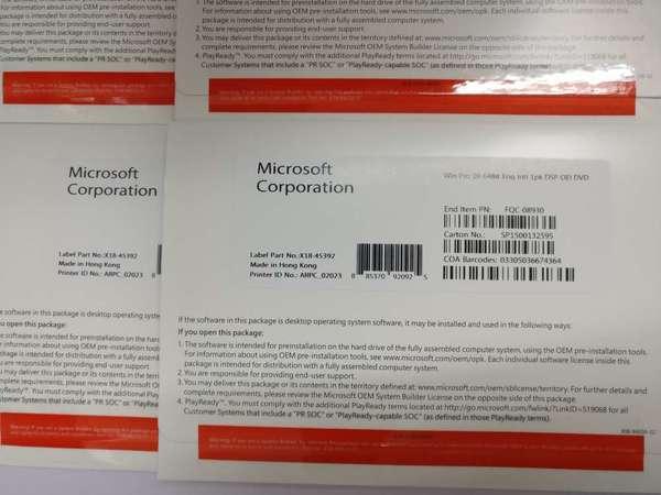 出售 Windows 10 pro 64bit 軟件 中文或英文版光碟 OEM DVD +原裝正版 KEY 金鑰 office 2019 365 - DCFever.com