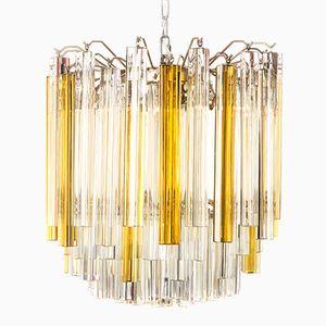 Triedi Murano Glass Chandelier By Paolo Venini 1960s