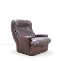 Tan Leather Chair Sale Chippendale Wingback Vintage Brown Lounge And Ottoman From