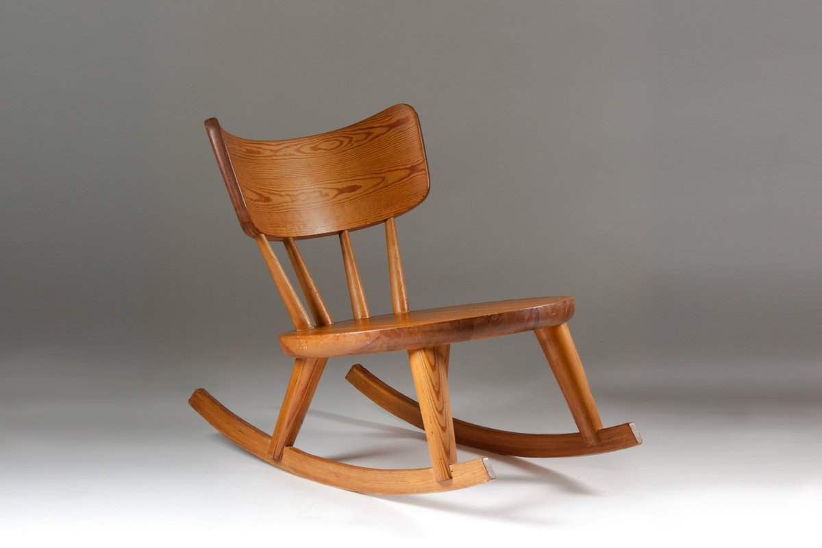 wooden glider chair australia wedding cover hire wolverhampton swedish pine wood rocking 1940s for sale at pamono