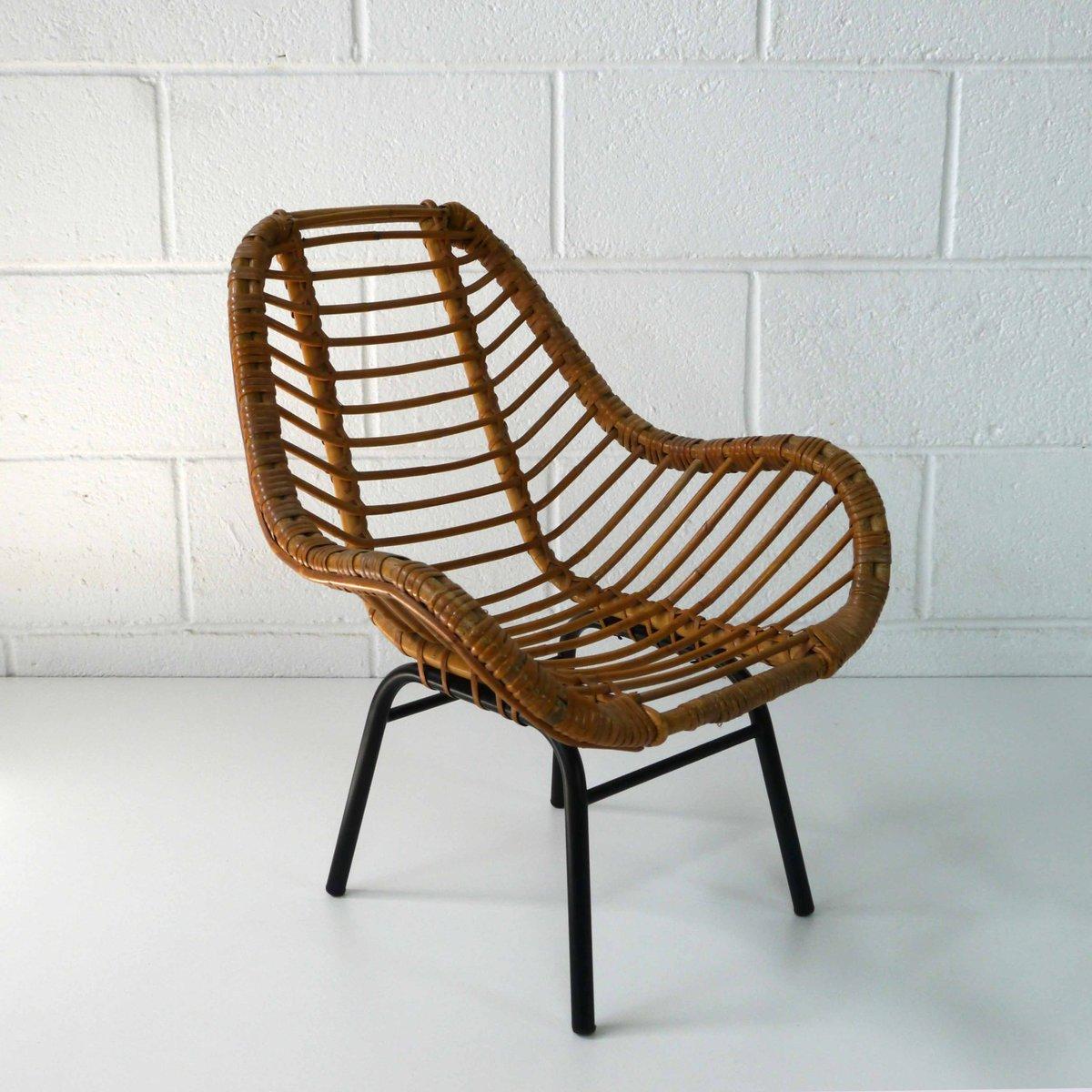 childs rattan chair sugar skull adirondack chairs children 39s 1960s for sale at pamono