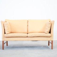 Danish Style Sofa Australia Natural Latex Foam Cushions Beige Leather 2-seater Sofa, 1970s For Sale At Pamono