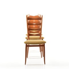 Danish Modern Dining Chairs How To Reupholster Chair Seat Teak Chairs, 1950s, Set Of 6 For Sale At Pamono