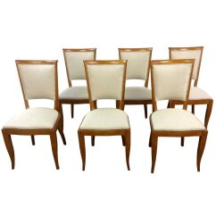 Art Deco Kitchen Chairs Kids Desk And Chair French Dining 1930s Set Of 6 For Sale At