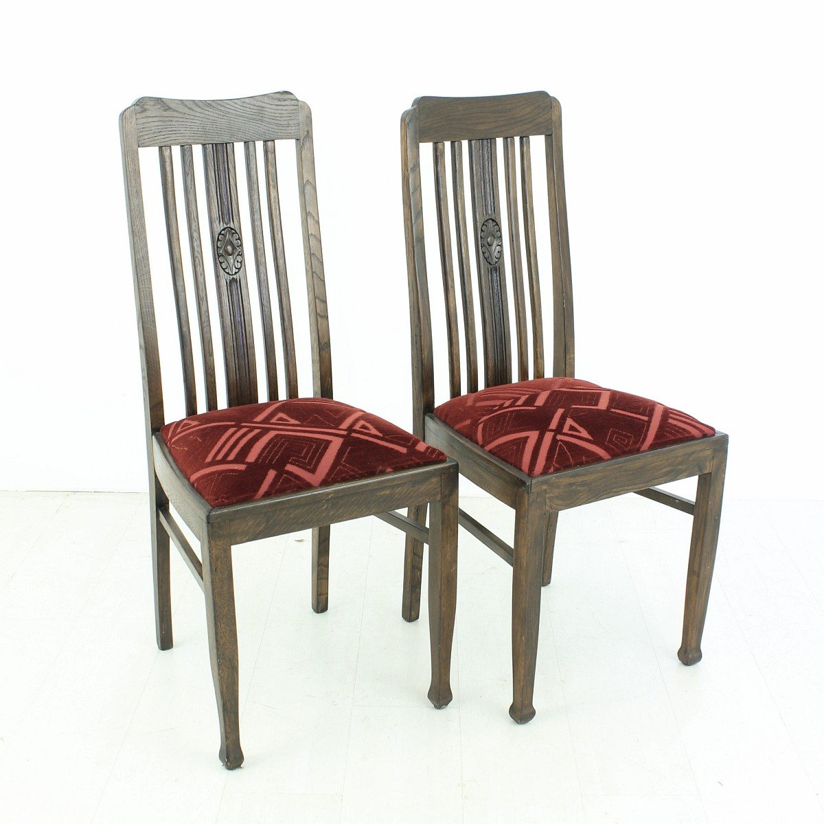 set of 2 dining chairs turquoise lounge chair vintage oak 1920s for sale at pamono