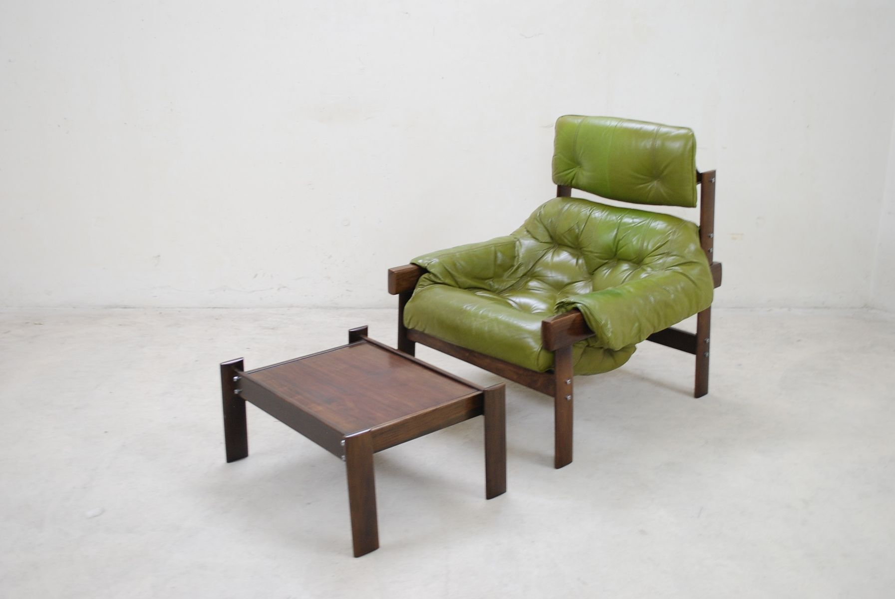 lime green chairs for sale oak kitchen with arms model mp 041 leather lounge chair and ottoman