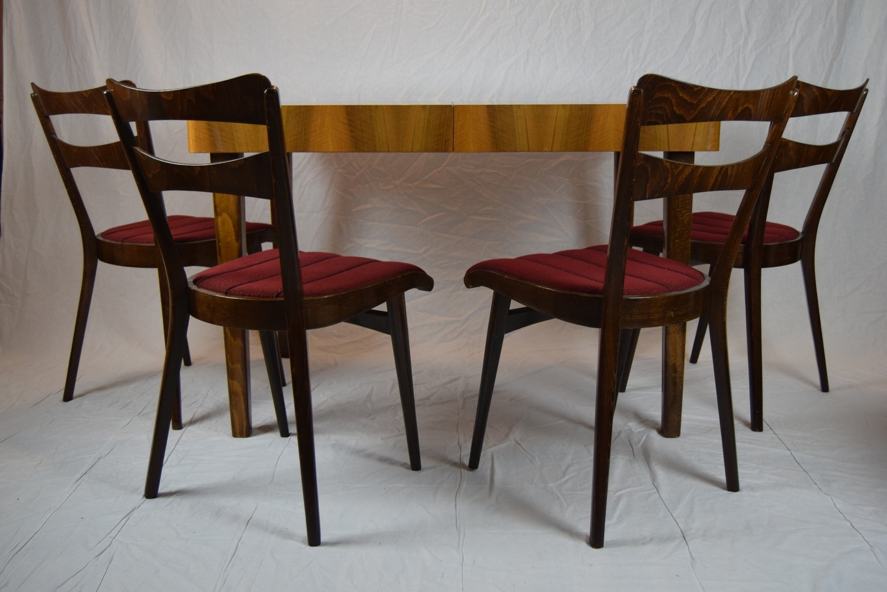 Teak Dining Room Chairs Teak Dining Table Four Chairs 1960s