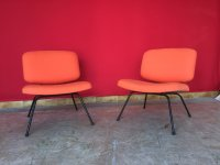 Mid-Century Peach Side Chairs by Pierre Paulin for Thonet ...