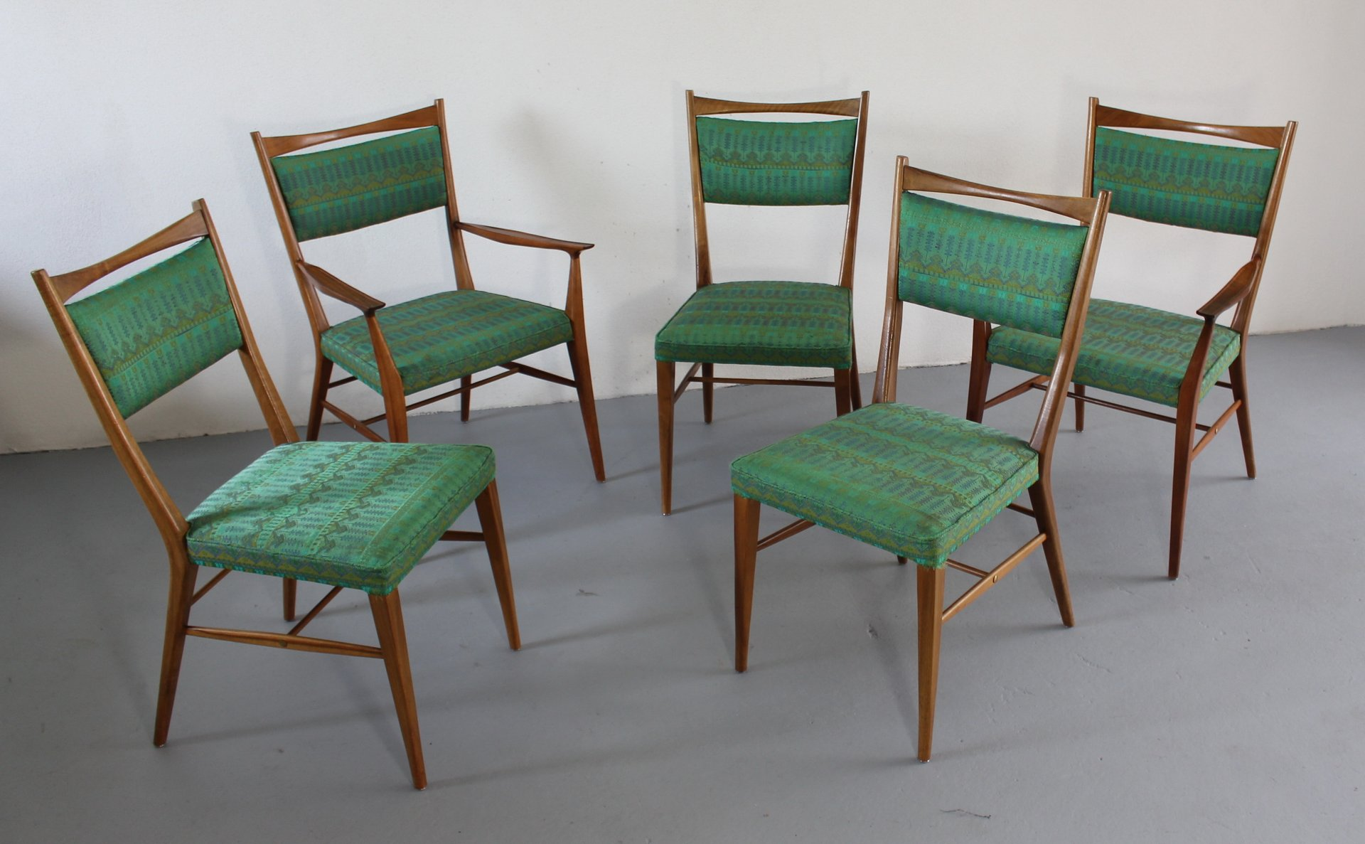 Paul Mccobb Chairs Dining Chairs In American Walnut By Paul Mccobb 1950s Set Of 5