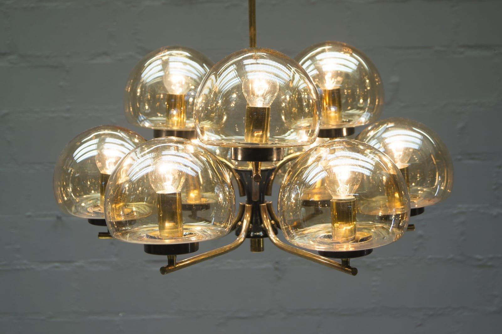 Lampadario Con Sfere Di Cristallo.Lampadario Con Sfere Di Vetro Lampadario Moderno Circolare Led A 3