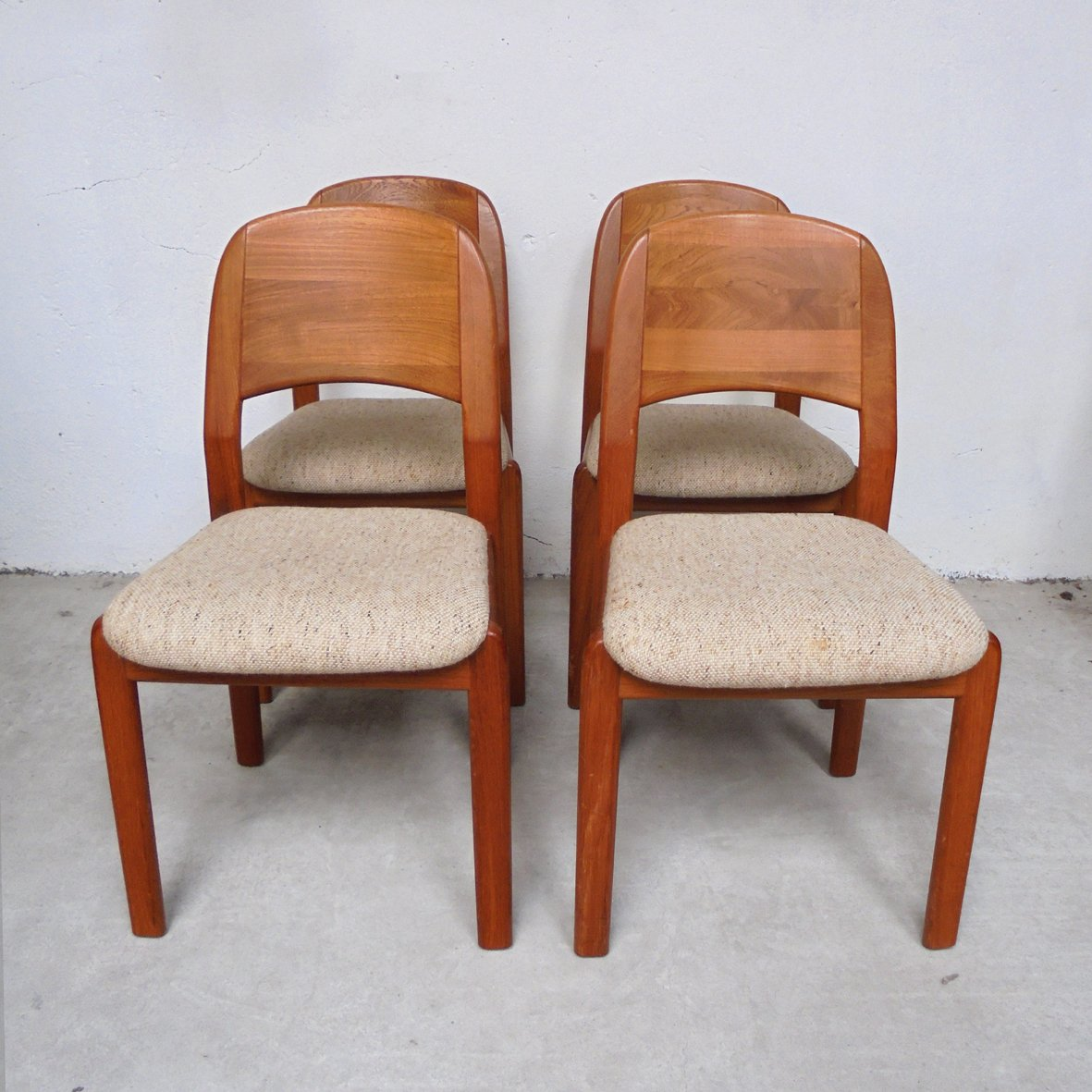 Danish Teak Dining Chairs Danish Teak Dining Chairs From Dyrlund 1960s Set Of 4