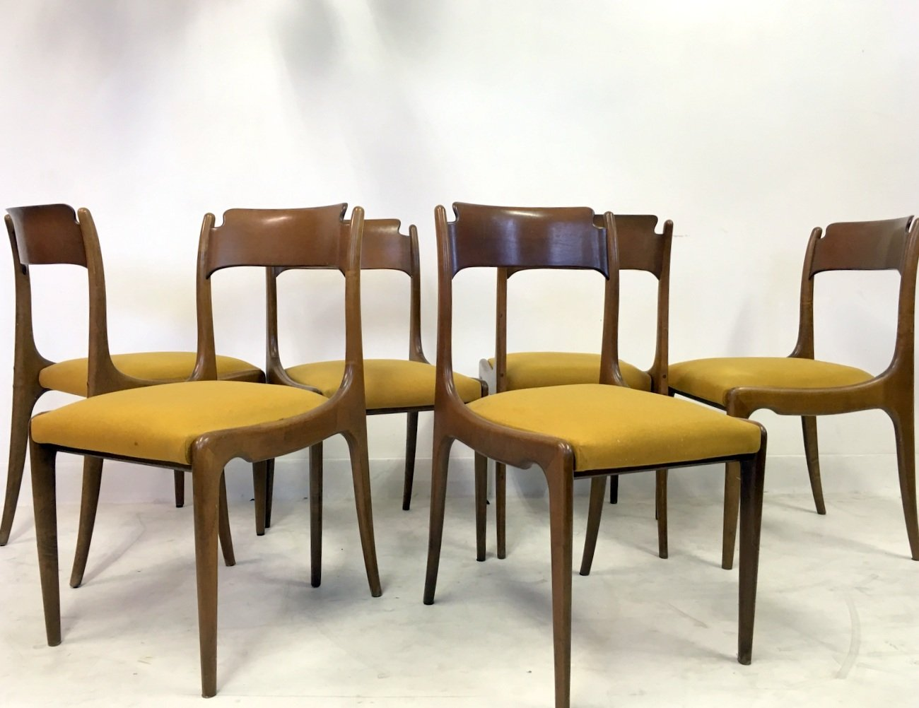 Italian Dining Chairs Mid Century Italian Dining Chairs 1950s Set Of 6 For