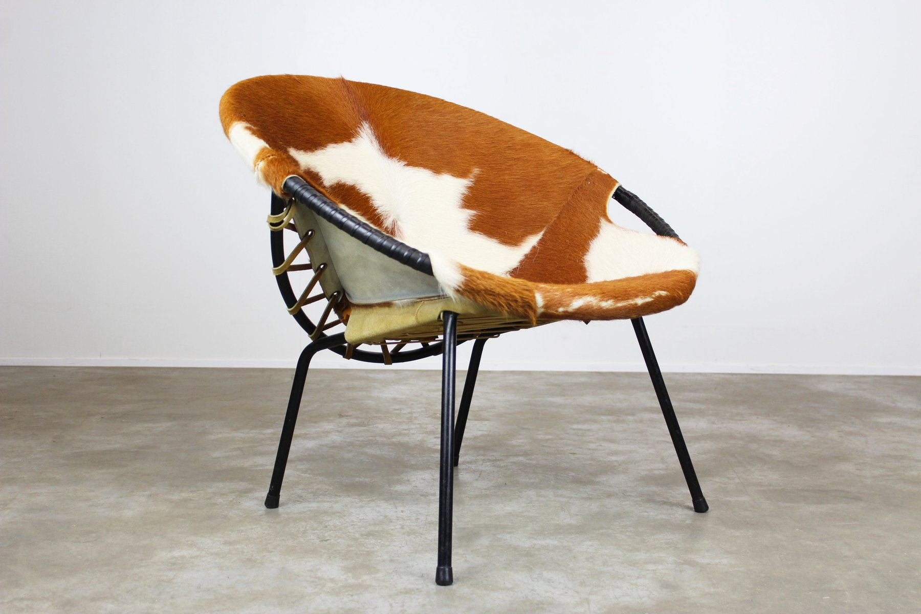Balloon Chair For Sale Cowhide Balloon Chair By Hans Olsen 1950s For Sale At Pamono
