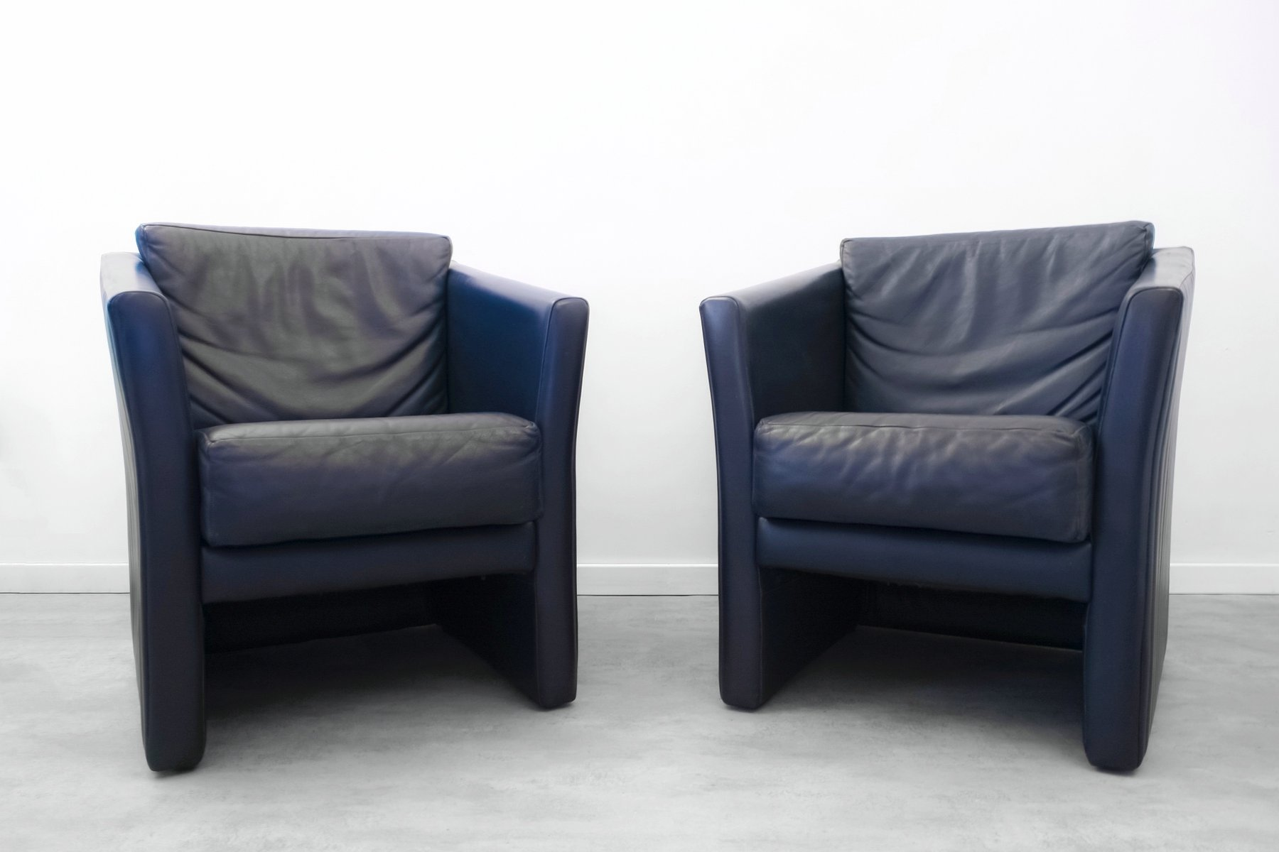 Cube Chairs Cube Club Chairs From Molinari 1980s Set Of 2