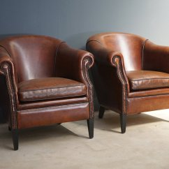 Leather Club Chairs For Sale Hans Wegner Folding Chair Yugoslavia Vintage Cognac Set Of 2 At