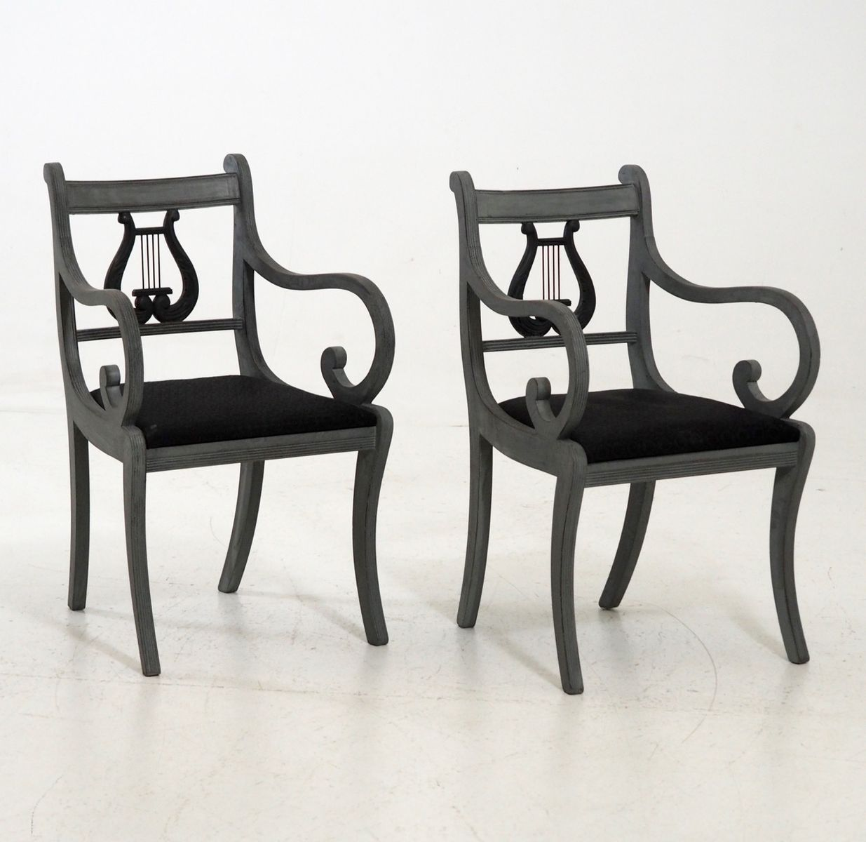 Antique LyreBack Chairs Set of 2 for sale at Pamono