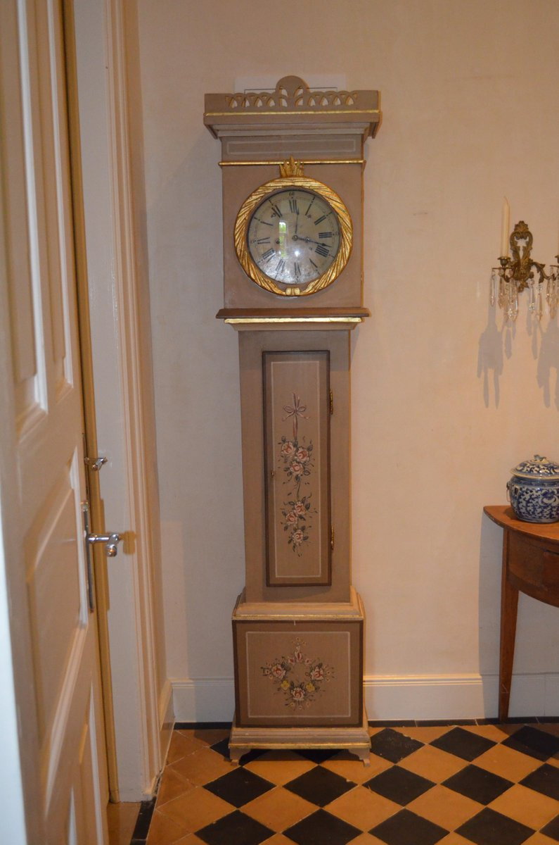 Antique Grandfather Clock from Bornholm for sale at Pamono