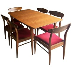 Teak Dining Room Chairs For Sale White Ceremony Solid Extending Table And 6 From